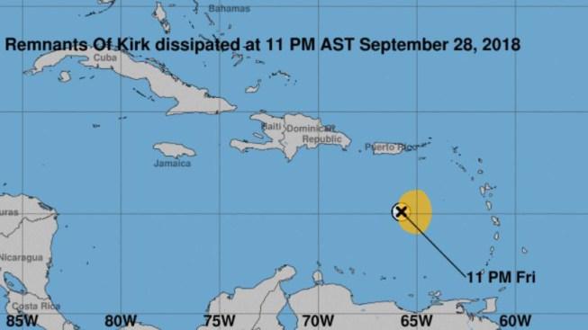 El sistema Kirk se degrada a onda tropical