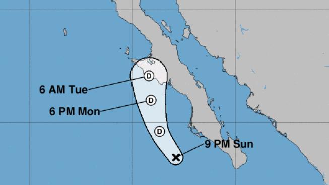 La depresión tropical Mario se debilita aún más en camino hacia Baja California Sur
