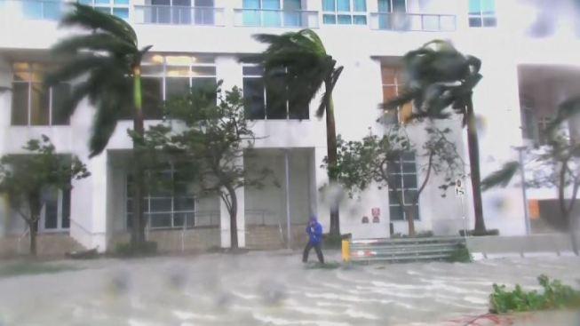 Impactan videos del Huracán Irma en Miami